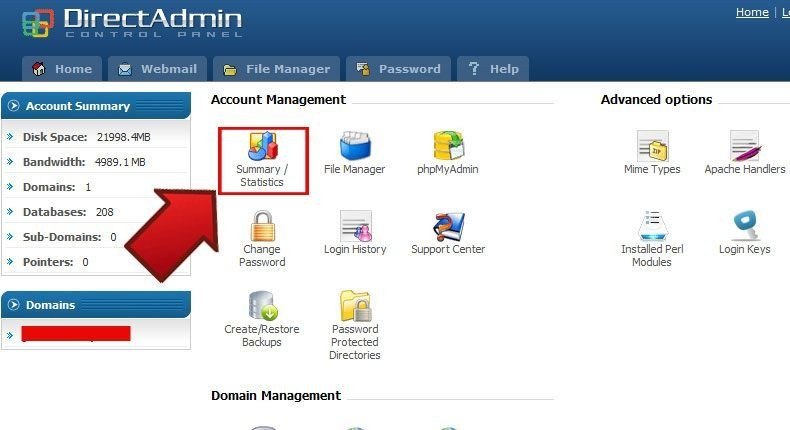directadmin-find-the-amoun